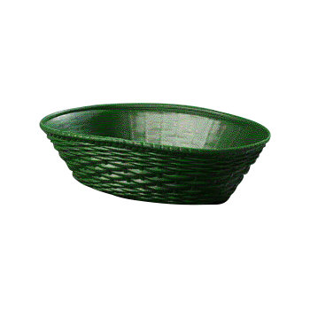 650409 - WeaveWear™ Oval Basket 1.1 qt - Green