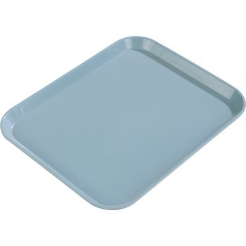 "1410FG013 - Glasteel™ Solid Rectangular Tray 13.75"" x 10.6"" - Ice Blue"