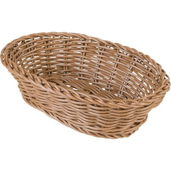 "655025 - Woven Baskets Oval Basket Small 9"" - Caramel"
