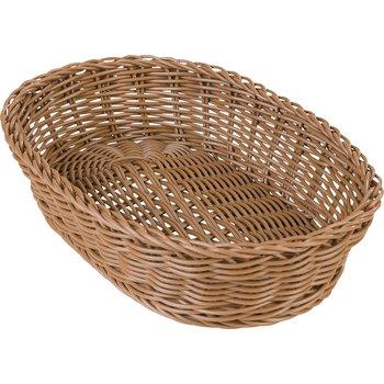"655125 - Woven Baskets Oval Basket 11.5"" - Caramel"