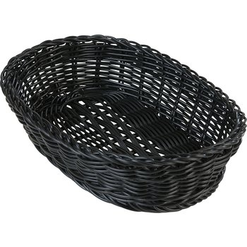 "655003 - Woven Baskets Oval Basket Small 9"" - Black"