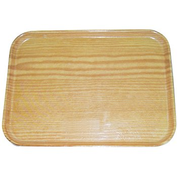 "269WFG065 - Glasteel™ Wood Grain Display/Bakery Tray 8.75"" x 25.5"" - Light Oak"