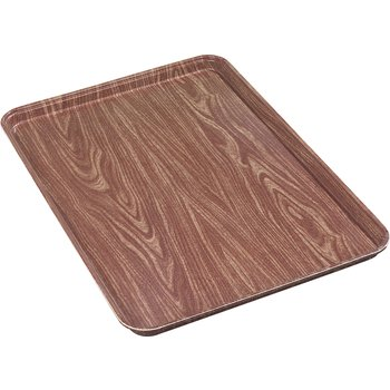 "2618WFG063 - Glasteel™ Wood Grain Display/Bakery Tray 17.9"" x 25.6"" - Pecan"