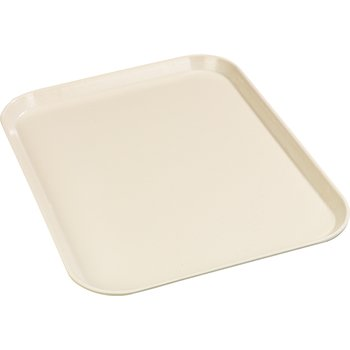 "1612FG022 - Glasteel™ Solid Rectangular Tray 16.4"" x 12"" - Ivory"