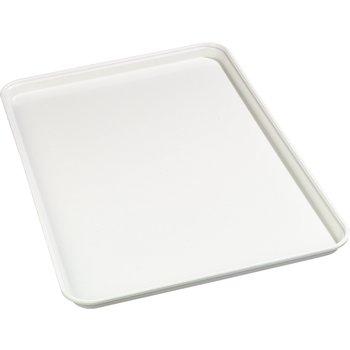 "1318FMT301 - Fiberglass Market Tray 17-3/4"", 12-3/4"", 1"" - Pearl White"