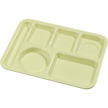 61404 - Left-Hand 6-Compartment Tray - Yellow
