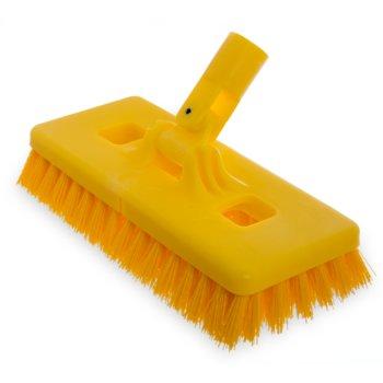 "4043000 - Swivel Scrub® Floor Scrub Brush With Stiff Polypropylene Bristles 9"""