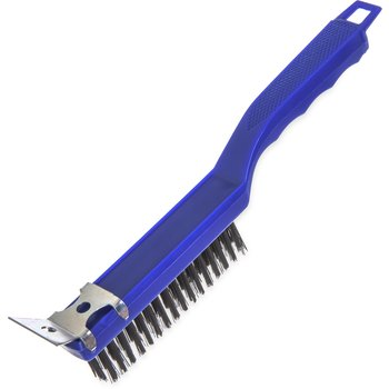4067100 - Sparta® Scratch Brush and Scraper with  Carbon Steel Bristles 11.38""