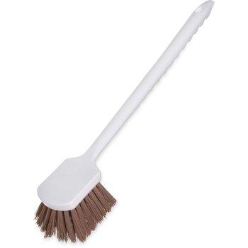 """4050125 - Sparta® Utility Scrub Brush with Polyester Bristles 20"""" x 3"""" - Tan"""