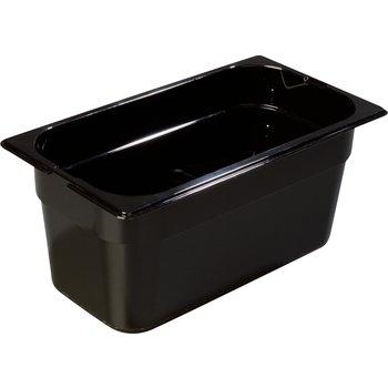 "1046203 - TopNotch® Food Pan HH 6"" DP 1/3 Size - Black"