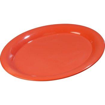 "3308052 - Sierrus™ Melamine Oval Platter Tray 13.5"" x 10.5"" - Sunset Orange"