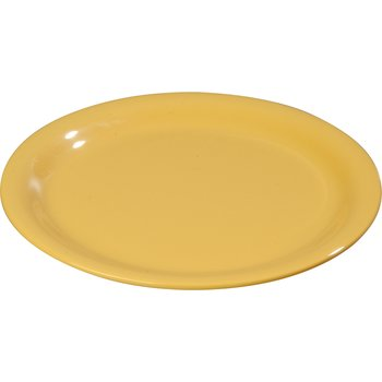 "4301022 - Durus® Melamine Dinner Plate Wide Rim 10.5"" - Honey Yellow"