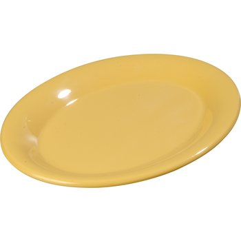 "3308622 - Sierrus™ Melamine Oval Platter Tray 9.5"" x 7.25"" - Honey Yellow"