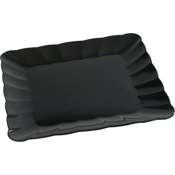 "792803 - Displayware™ Square Large Scalloped Tray 19""SQR - Black"
