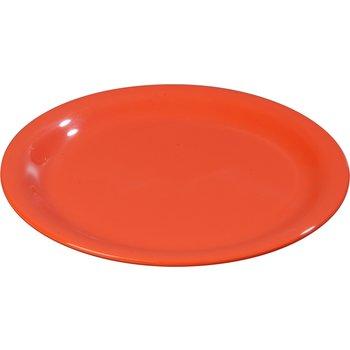 """4300452 - Durus® Melamine Narrow Rim Dinner Plate 9"""" - Sunset Orange"""