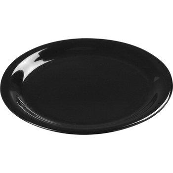 """3301803 - Sierrus™ Melamine Wide Rim Pie Plate 6.5"""" - Black"""