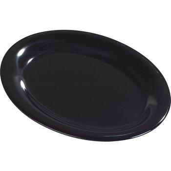 "3308003 - Sierrus™ Melamine Oval Platter Tray 13.5"" x 10.5"" - Black"
