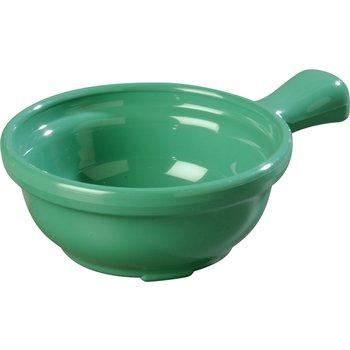 "700609 - Handled Soup Bowl 8 oz, 4-5/8"" - Meadow Green"