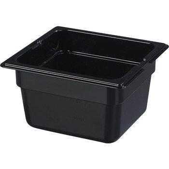 """1030103 - TopNotch® Food Pan PC 4"""" DP 1/6 Size - Black"""