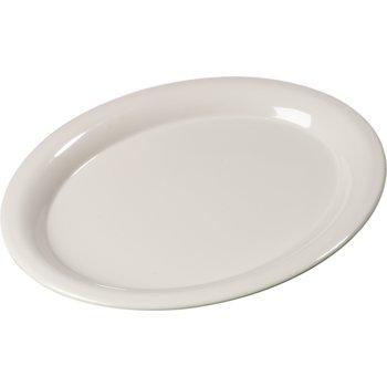 """3308042 - Sierrus™ Melamine Oval Platter Tray 13.5"""" x 10.5"""" - Bone"""