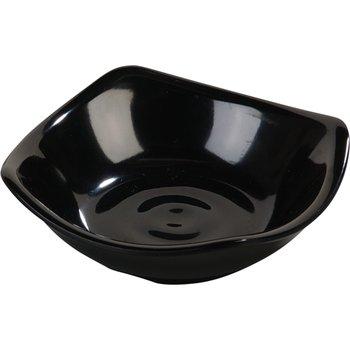 "794003 - Melamine Small Flared Rim Square Dish Bowl 3.5"" - Black"