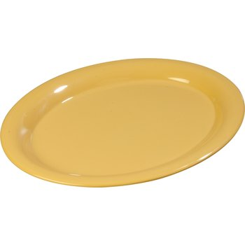 "4308022 - Durus® Melamine Oval Platter Tray 13.5"" x 10.5"" - Honey Yellow"