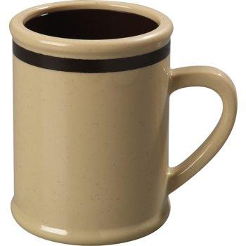 "850519 - Carlisle® Rustic Mug w/Stripe 8 oz, 4-1/4"" - Stone"