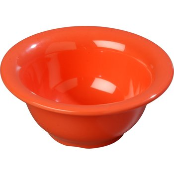 4303852 - Durus® Melamine Rimmed Nappie Bowl 10 oz - Sunset Orange