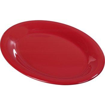 "3308605 - Sierrus™ Melamine Oval Platter Tray 9.5"" x 7.25"" - Red"