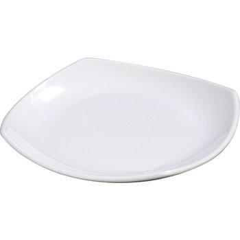 "4330802 - Melamine Upturned Corner Small Square Plate 7.75"" - White"