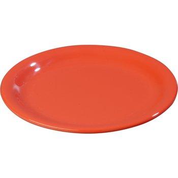 "4300652 - Durus® Melamine Salad Plate Narrow Rim 7.25"" - Sunset Orange"