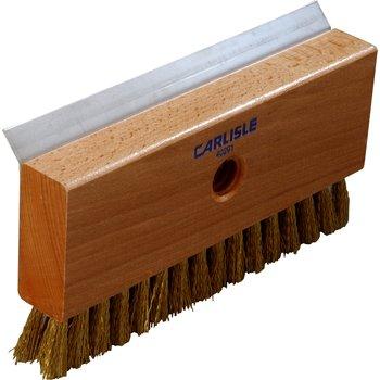 "4029100 - Oven Brush & Scraper w/Brass Wire Bristles (head only) 8-1/2"""
