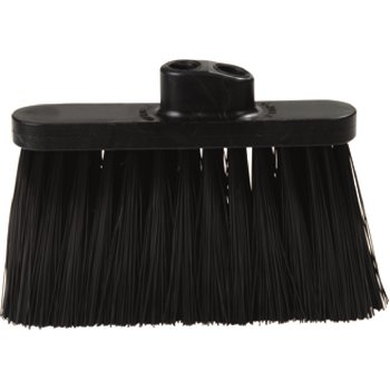 "3685403 - Duo Sweep® Light Industrial Broom ( Head Only) 4"" Bristle Trim - Black"