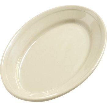 "4387206 - Dayton™ Melamine Oval Platter Tray 9.25"" x 6.25"" - Oatmeal"