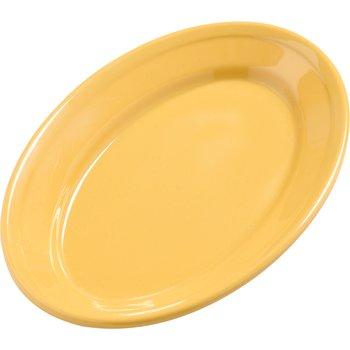 """4387222 - Dayton™ Melamine Oval Platter Tray 9.25"""" x 6.25"""" - Honey Yellow"""