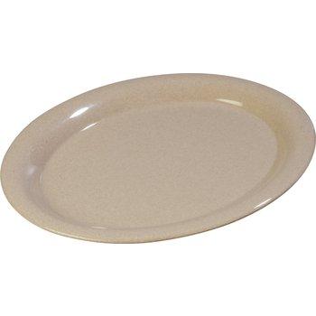 "4308071 - Durus® Melamine Oval Platter Tray 13.5"" x 10.5"" - Sand"