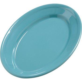 """4387263 - Dayton™ Melamine Oval Platter Tray 9.25"""" x 6.25"""" - Turquoise"""