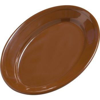 """4387243 - Dayton™ Melamine Oval Platter Tray 9.25"""" x 6.25"""" - Toffee"""