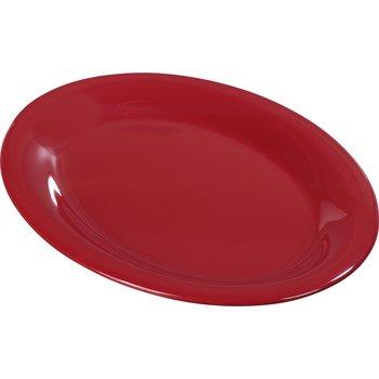 "4308258 - Durus® Melamine Oval Platter Tray 12"" x 9"" - Roma Red"