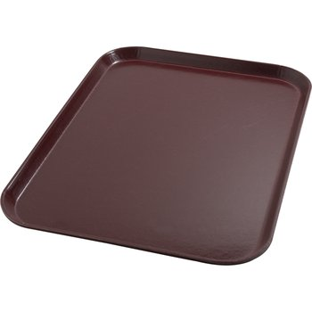 "DX1089I61 - Glasteel™ Flat Tray 14"" x 18"" (12/cs) - Cranberry"
