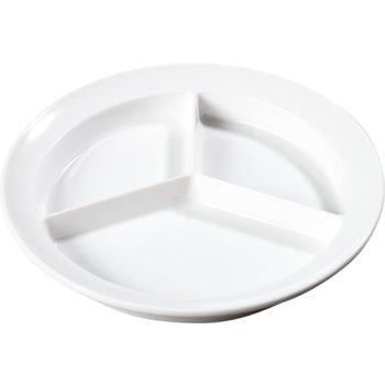 "KL20302 - Kingline™ Melamine 3-Compartment Deep Plate 8.75"" - White"