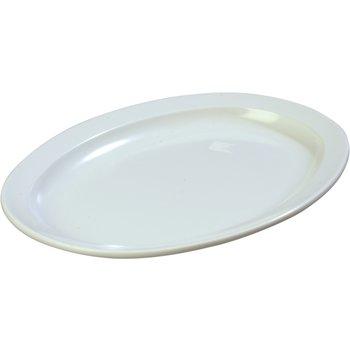 """KL12602 - Kingline™ Melamine Oval Platter Tray 13.5"""" x 9.75"""" - White"""