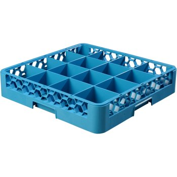 "RG1614 - OptiClean™ 16 Compartment Glass Rack 4"" - Carlisle Blue"