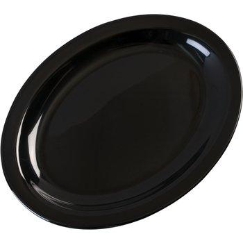 "KL12703 - Kingline™ Melamine Oval Platter Tray 12"" x 9"" - Black"
