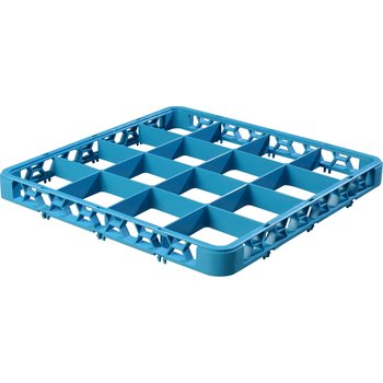 "RE1614 - OptiClean™ 16 Compartment Divided Glass Rack Extender 1.78"" - Carlisle Blue"