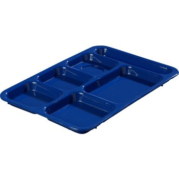"P614R14 - Right-Hand 6-Compartment Tray 14"" X 10"" - Blue"