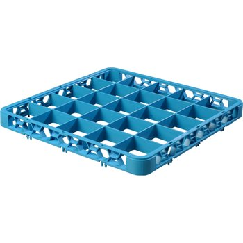 """RE2514 - OptiClean™ 25 Compartment Divided Glass Rack Extender 1.78"""" - Carlisle Blue"""