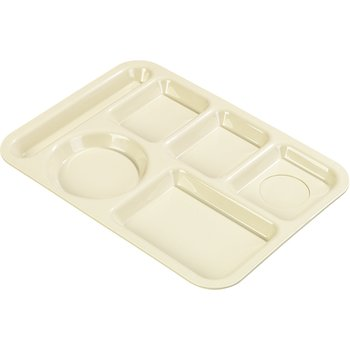 P61425 - Left-Hand 6-Compartment Tray - Tan