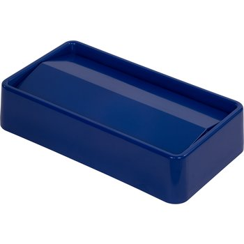 34202414 - Rectangle Waste Container Trash Can Lid with Swing Top 15 and 23 Gallon - Blue