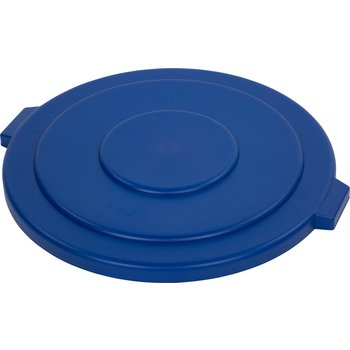 34105614 - Bronco™ Round Waste Bin Trash Container Lid 55 Gallon - Blue